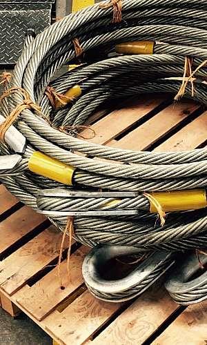 Acessórios para fixação de cabo de aço