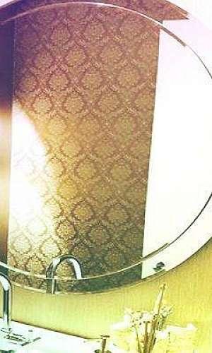 Espelho bisotado redondo