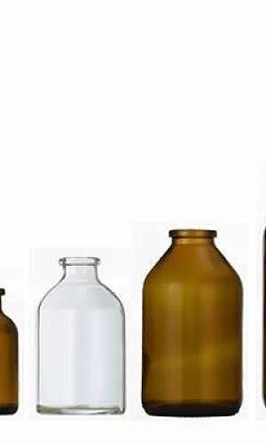 Frascos de vidro para laboratório