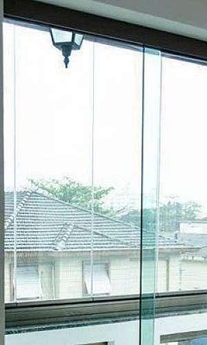 Porta de vidro temperado