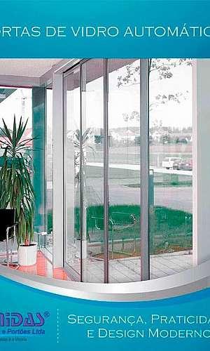 Portas automáticas de vidro
